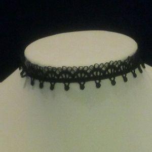 3/$15 Black Scallop Lace Choker NWT